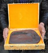 Rare Old China Duanyan Stone Hand Carve Landscape Ink-stone Ink Slab Inkwell Box