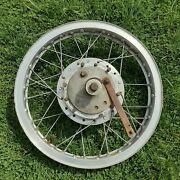 Akront Me 480 Italian Style Flanged Alloy Vintage Motorcycle Rim Spokes And Hub