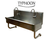 Commercial Heavy Duty Stainless 48 Wash Sink Wall Mount 304s Hands Free Faucet