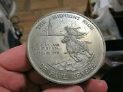1776-1976 Large Medal, The Midnight Of Paul Revere, Year Calendar, Pewter