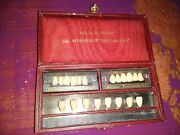 Antique Dr Myersons Colour Guide True Match Dental Teeth Set In Display Case