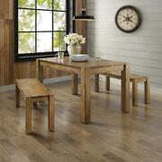 Dining Table Stylish Rustic Farmhouse Design Bryant 6-seat Capacity Kitchen Room
