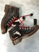 Todand039s Womens Ankle Boots 36 Eu 6 Us Brown Leather Red Laces Booties Hiking Gomma