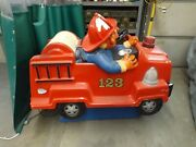 Coin Operated Kiddie Ride. Sesame Street Fire Truck