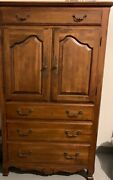 Ethan Allen Country French Dresser 38x65/19andrdquo Excellent Condition Solid Woodandnbsp