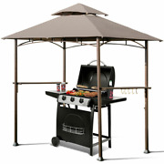 8 X 5 Outdoor Barbecue Grill Gazebo Canopy Tent Bbq Shelter