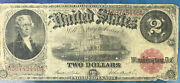 Series Of 1917 2 Two Dollar United States Note Red Seal Teehee / Burke Signed