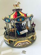 Lemax Village Collection Belmont Carousel Animated Musical Multi Color Vintage