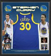 Stephen Curry Personally Hand Signed Framed Golden State Warriors Jersey Nba Mvp