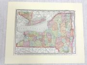 1901 Antique Map Of New York State Long Island United States Of America Usa Us