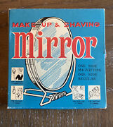 Vintage 1950s Make Up And Shaving Stand Mirror 4.25 Nos Original Box 2 Sided