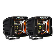 Rigid Industries Radiance Scene Lights - Surface Mount Pair - Black W/amber Led