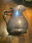 U.s.n, Reed And Barton ,silver Soldered Pitcher