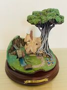Wdcc Enchanted Places Sleeping Beauty - Woodcutter's Cottage W/box And Coa