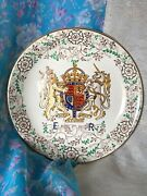 Vintage Grayand039s Pottery Stoke On Trent England Souvenir Plate Queen Coronation