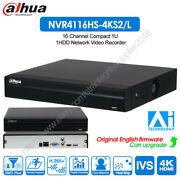 Dahua 4k 16ch Ai Face Detection Smd Ivs People Counting Nvr4116hs-4ks2/l Dmss
