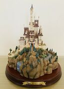 Wdcc Enchanted Places Beauty And The Beast - The Beast Castle W/box And Coa