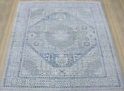 9x12 Hand Knotted Tribal Mamluk Fine Wool Oriental Area Rug In Blue
