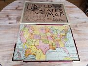 Early 1900s Antique Outline Map Of The United States Puzzle Milton Bradley Wood