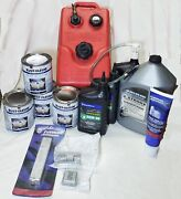 Anti-foul Paint Gear Lube W/ Pump Trim Lube Oil Extra Tank Anodes