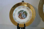 Sabin Crest-o-gold Colonial Warranted 22k 6 3/8 Bread And Butter Plates Set Of 3