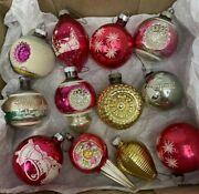20 Vintage Atomic Mcm Shiny Brite Glass Christmas Ornaments Amazing