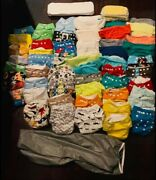 Priced To Sale Cloth Diapers Lot With Bumgenius And Alvababy Cloth Wipes