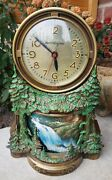 Vintage Mastercrafters Animated Waterfall Campfire Motion Clock Lighted Working