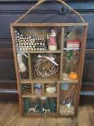 Vintage Shadow Box Wood Hand Made Country Farmhouse Design