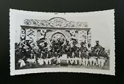 Howes Great London Shows Antique Circus Vintage Photo Of Band By Carved Wagon