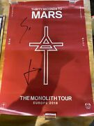 Signed Monolith Tour Poster Thirty Seconds To Mars Jared Leto
