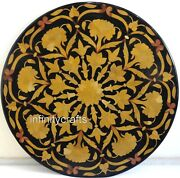 48 Black Marble Dining Table Top Inlay Art Hallway Table From Home Furniture