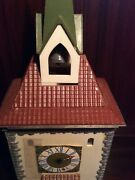 Model Train Castle Bell Tower With Clock Used On O Gauge Layout