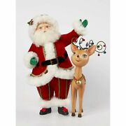 Katherineand039s Collection 2021 Santa With Reindeer Tabletop Figurine