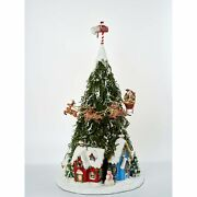 Katherine's Collection 2021 Tree Town With Santa And Reindeer Decor