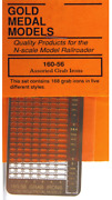 Gold Medal Models 160-56 - Assorted Grab Irons 168 - N Scale