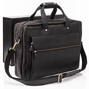 Luxorro Leather Briefcases For Men | Soft Full-grain Leather Laptop Bags For A