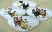 Ceramic Cabinet Drawer Pull Rooster Family Chicken 4