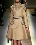 New Valentino Embroidered Dress Belted Trench Coat Runway Jacket It 40 / Us 2 4