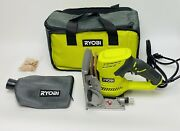 Ryobi 6 Amp Ac Biscuit Joiner Kit With Dust Collector And Bag Jm83k W/10 Biscuit