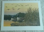 🔥🔥1984 Iowa Ducks Unlimited Print By Jack Hahn Geese Signed And Numbered 🔥🔥