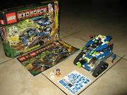 100 Complete Lego Exo-force 8118 Hybrid Rescue Tank And Box + Brand New Stickers
