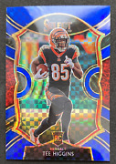 2020 Panini Select 60 Tee Higgins Concourse Blue Silver Prizm Rookie Card /175