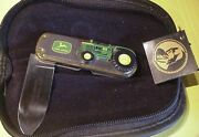 Franklin Mint John Deere Model 1963 5010 Tractor Collector Knife Tag Pouch Box