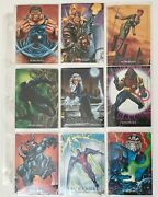 Sky Box 1992 Marvel Masterpieces 100 Cards And 5-card Battle Spectra Set 1d-5d