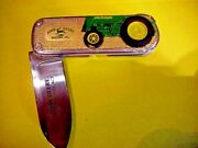 Franklin Mint John Deere 1937 Model Ag Tractor Collector Knife Tag Pouch Box
