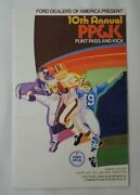 Vintage Ford Dealers America 1970 Punt Pass And Kick Orig. Program 10th Annual