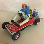 Nomura Toy Tin Battery Powered Go Kart Vintage Toy Maid In Japan [rare]