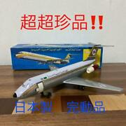 Nomura Toy And Nikko Electric Airplane Vintage Tin Toy [operation Confirmed]