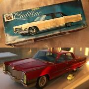 [dameged] Nomura Toy Cadillac Oversized Tin Vintage Total Length About 64cm